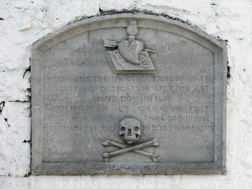 Plaque over Crypt, Forthill Cemetery - Galway